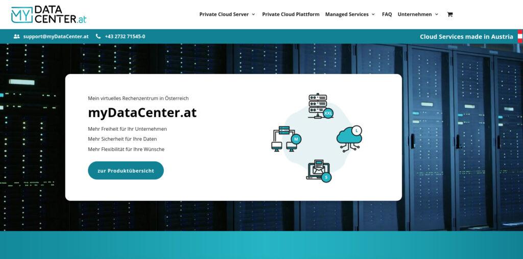 Screenshot myDataCenter.at